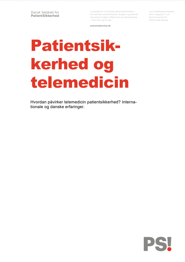 patientsikkerhed og telemedicin